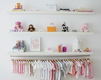 organize baby stuff no closet for us so I'm doing this!!