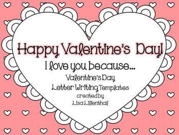 Freebie Valentine S Day Letter Writing Valentine S Day Letter Valentines Letter Valentines Writing