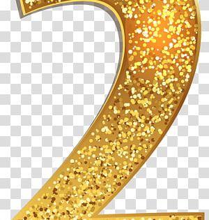 Gold Colored 2 Number Gold Number 1 Transparent Background Png Clipart Gold Number Clip Art Transparent Background