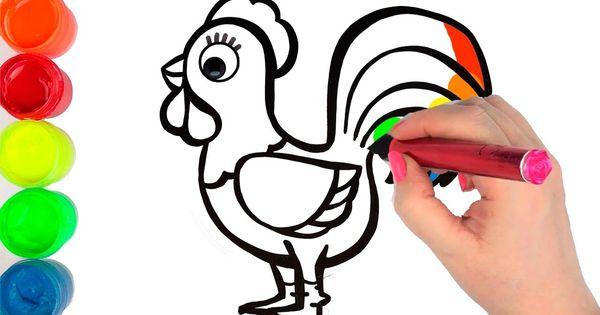 Cara Menggambar Ayam Jago Dan Mewarnai Mainan Dengan Gambar