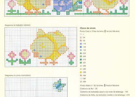 Schema punto croce farfalline pulcino cross stitch for Farfalline punto croce