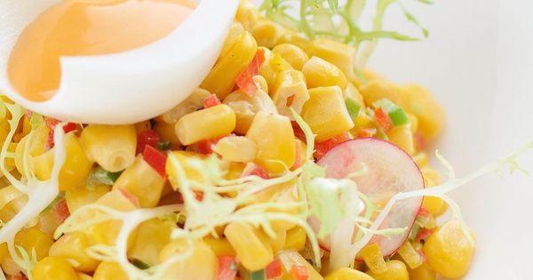 سلطة الذرة Corn Salad لا تنسوا تسجيل الإعجاب والمتابعة لمعرفة المزيد عن هوراتي Like Share Fo In 2020 Food Best Foods Vegetables