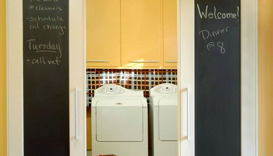 chalk board barn doors Great idea for kids closet doors