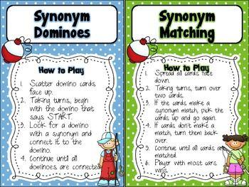 Gone Fishin Synonym Activities Freebie Synonym Activities Antonyms Activities Vocabulary Strategies
