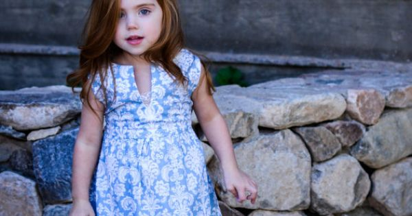 Blue amp white damask holiday dress size 4t by bbellecouture on etsy
