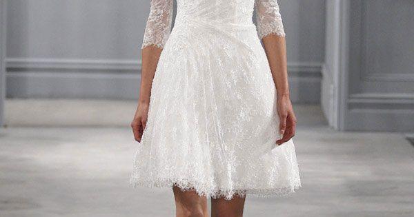La robe de mariée courte est la nouvelle tendance de ces dernières ...