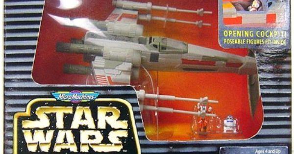 STAR WARS Micro Machines Action Fleet X-WING Gun Galoob 1996