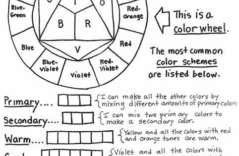 color theory basics download and print color theory worksheet use color pencils markers or. Black Bedroom Furniture Sets. Home Design Ideas