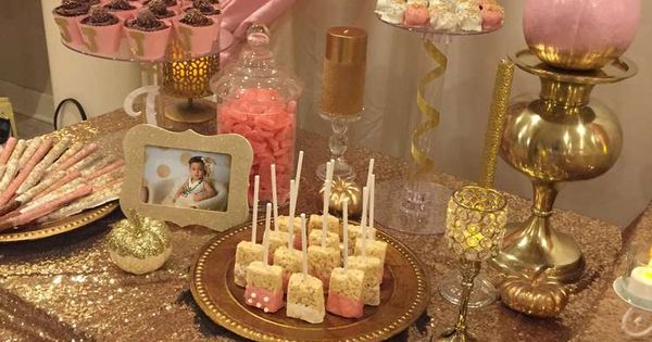 Pink Amp Gold Birthday Party Ideas Pink Gold Birthday