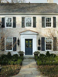Yellow Brick House Colonial House Exteriors Colonial Exterior Facade House