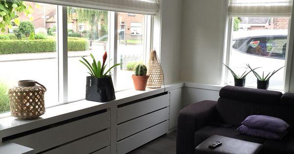 Radiator ombouw strak in hoogglans wit thuis pinterest vensterbank huiskamer en - Decoratie kamer thuis woonkamer ...