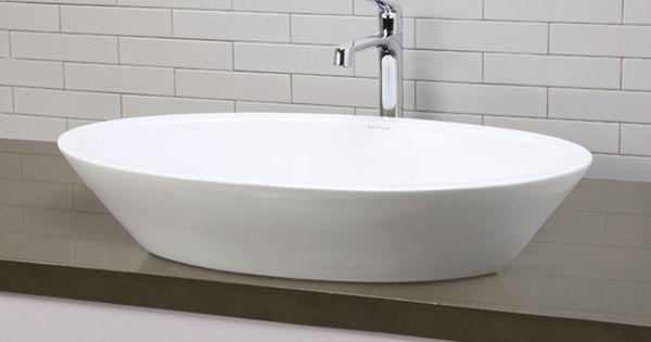 Ceramic bathroom vessel sinks white large deep oval ceramic vessel sink with overflow sul sink - Vessel sink base ideas ...
