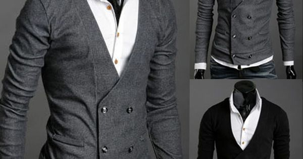 Double-breasted cardigan Mens Style