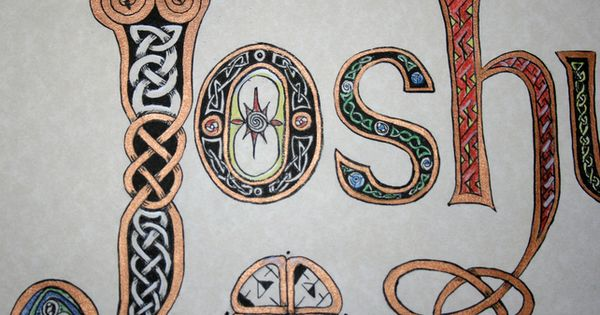 Celtic Calligraphy Knot With Your Name Initials Etc On