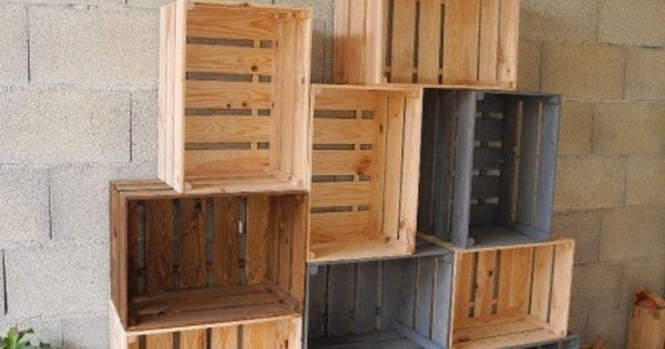 Caisses en bois par peiot tables fruit et simple - Caisse en bois pour rangement ...