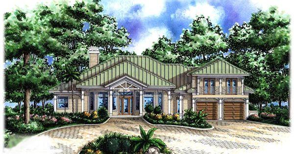Florida Cracker House Plan Chp 37161 At