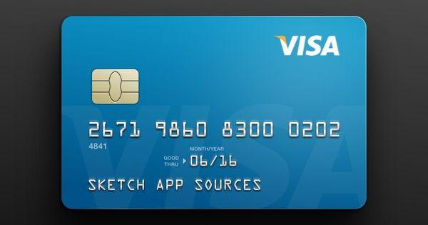 Visa Credit Card Template Sketch Freebie Download Free Resource For Sketch Credit Card Website Free Credit Card Credit Card Pictures