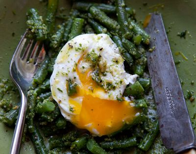 Green Beans with Almond Pesto Recipe