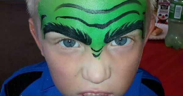 hulk face painting. Black Bedroom Furniture Sets. Home Design Ideas