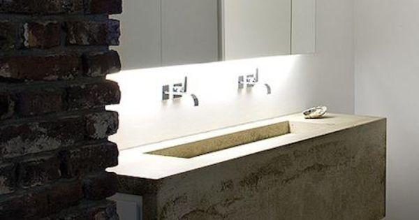 concrete sink