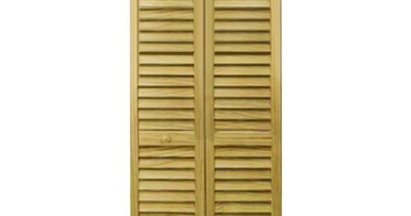 Kimberly Bay 32 In X 80 In 32 In Plantation Louvered Solid Core Unfinished Wood Interior