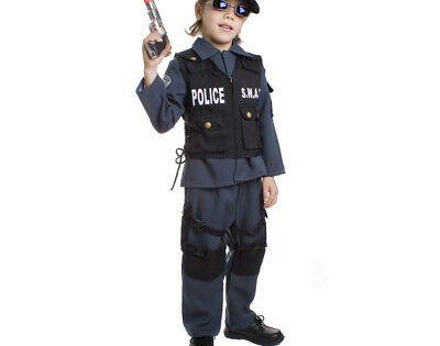 Police Cop Policeman FBI Uniform Officer Book Week Boys Costume Instant Kit
