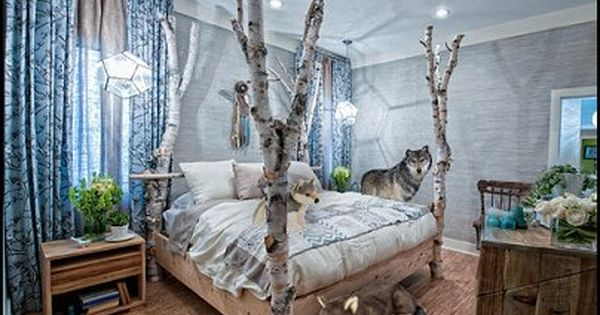 forest themed bedroom forest wallpaper for bedroom decorating ideas wolf 11549