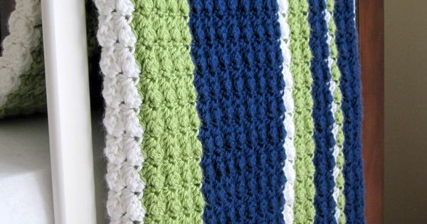 Preppy / Nautical Baby Boy Reversible Crochet Blanket. $45.00, via Etsy. Nice