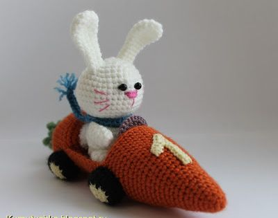 Bunny in Carrot Car Amigurumi - FREE Crochet Pattern and ...