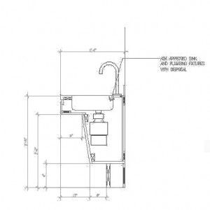 How To Put A Disposal In An Ada Sink Abadi Access Ada Sink Kitchen Cabinet Dimensions Sink
