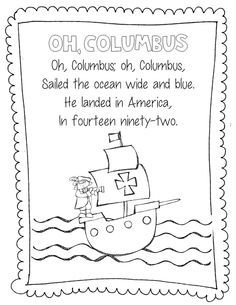 Columbus Ships Templates Columbus Day Connect And Color Graphics