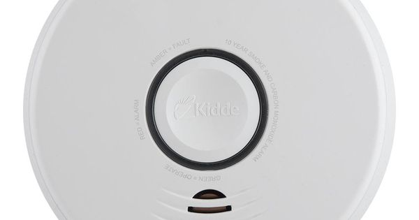 Kidde Firex Hardwire Smoke And Carbon Monoxide Combination Detector With 10 Year Battery Backup And Voice Alarm 21027536 The Home Depot Battery Backup Firex Alarm