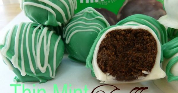 No Bake Thin Mint Truffles - only 4 ingredients,. Makes 24. 1