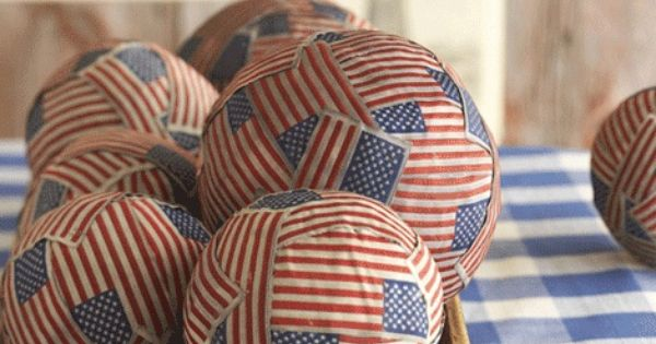 Fourth of July Flag Balls