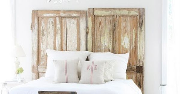 Old wooden doors = shabby chic.