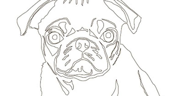 Embroidered Line Drawings Pug Art Pug Illustration Pug Tattoo