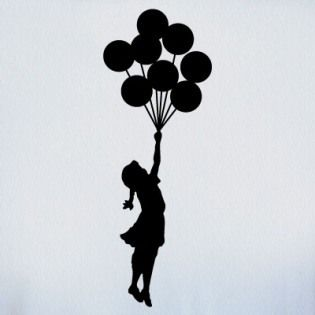 Banksy Bubble girl  poster A2 SIZE