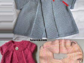 Yakadan Baslanan Yani Robadan Baslanan Oldukca Sik Bir Bebek Yelegi Bu Yelegi Yapani Bilmedigim Icin Adini Paylas Baby Knitting Patterns Bebek Bebek Kazaklari