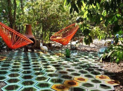 Tracey Reinberg. Kismet tile. tile in the backyard! who needs grass?! so