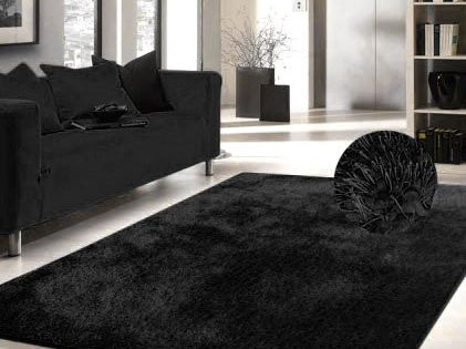Luxury Viscose Shag Collection Black Shag Area Rug 5x7 Hand Tufted Check Out This Great Product Note It S An Affi Area Rugs Cheap Blue Area Rugs Blue Rug
