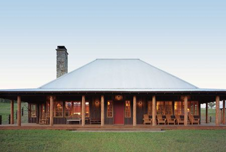 Neat Roof Elevation And Simplicity Of This Texas Ranch House The Wrap Around Porch Is Perfect Barn House Plans Metal Building Homes Ranch House