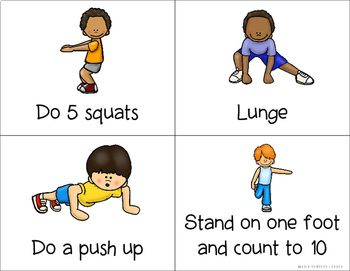 Physical Activity Cards - Exercise Cards (With images) | Card ...