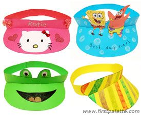 Paper Visor Craft Kids Crafts Firstpalette Com Fun Crafts For Kids Crafts For Kids Fun Crafts
