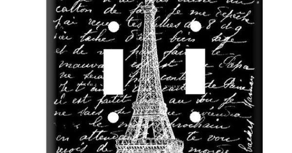 double light switch cover of eiffel tower outlet covers electrical outlets and light switches. Black Bedroom Furniture Sets. Home Design Ideas