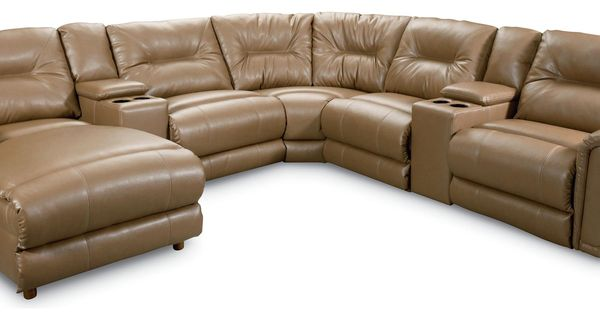 Clausen 7 Pc Bonded Leather Sectional By Lane Gardiners Furniture Reclining Sectional Sofa