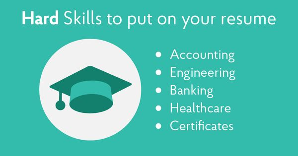 Hard Skills Resume Skills Resume Skills List Good Resume Examples