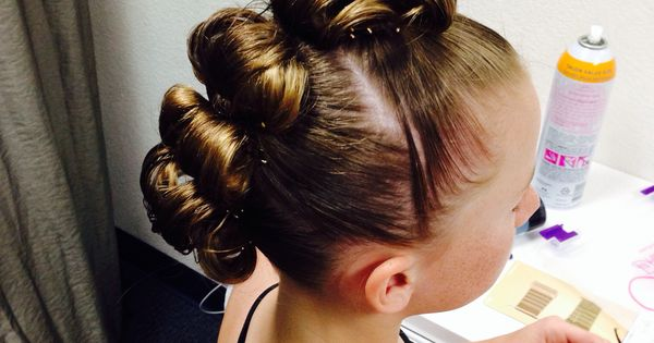 Hair Styles For A Dance: Rolled Bun Edgy Mohawk Great For A Dance Hairstyle