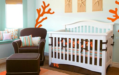ocean inspired baby nursery.. I'm thinking different color scheme but I love
