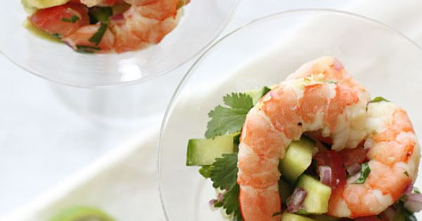 Shrimp Ceviche Cocktail - Shrimp cocktail is fine, but when I want