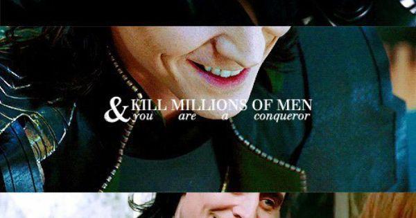 Kill them all, and you're a god. And considering Loki starts Ragnarok,